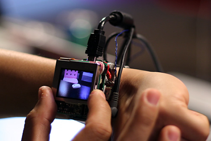 Prototype Smartwatch Controlled by Twists, Tilts, Turns